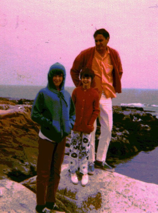 Summer of '69 -  Jon, Christi & Dad on the Coast of Maine